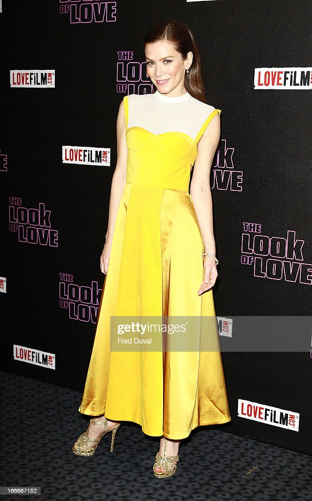 Anna Friel attends 'The Look Of Love' UK premiere at Curzon Soho on April 15, 2013 in London, England.