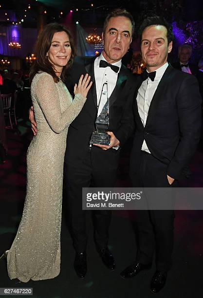 Anna Friel James Nesbitt winner of the Contribution to the Irish Cultural Life in the UK award and Andrew Scott attend The Ireland Fund Of Great...