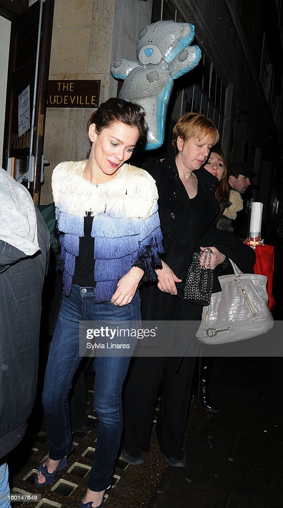 Anna Friel leaving The Vaudeville Theatre on January 26, 2013 in London, England.