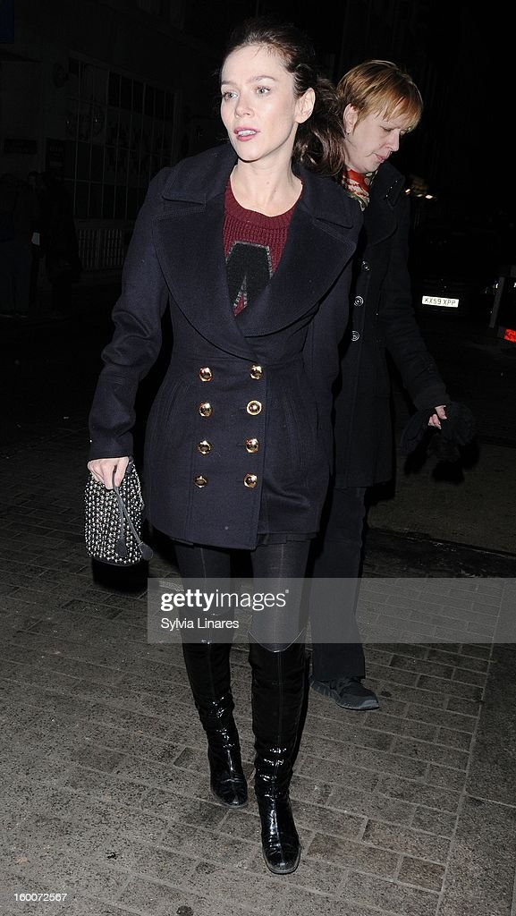 Anna Friel leaving Vaudeville on January 25, 2013 in London, England.