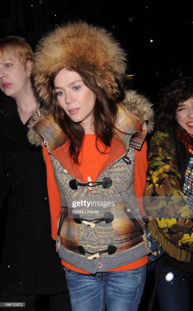Anna Friel leaving Vaudeville Theatre on January 18, 2013 in London, England.