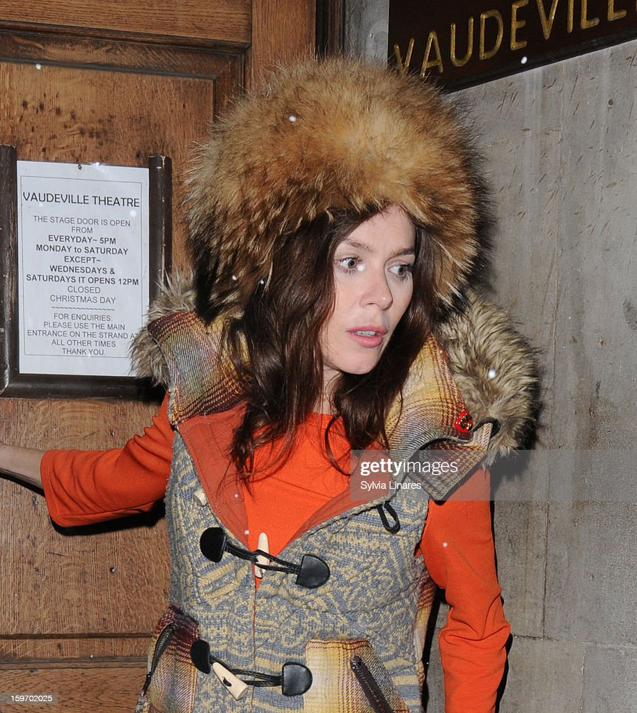 Anna Friel leaving Vaudeville Theatre on January 18, 2013 in London, England.
