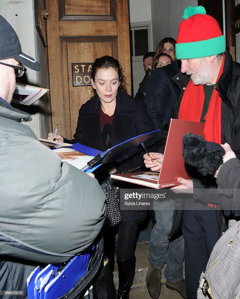 Anna Friel leaving Vaudeville Theatre on January 25, 2013 in London, England.