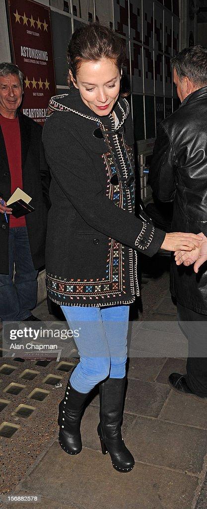 Anna Friel sighting leaving the Vaudeville Theatre on November 23, 2012 in London, England.