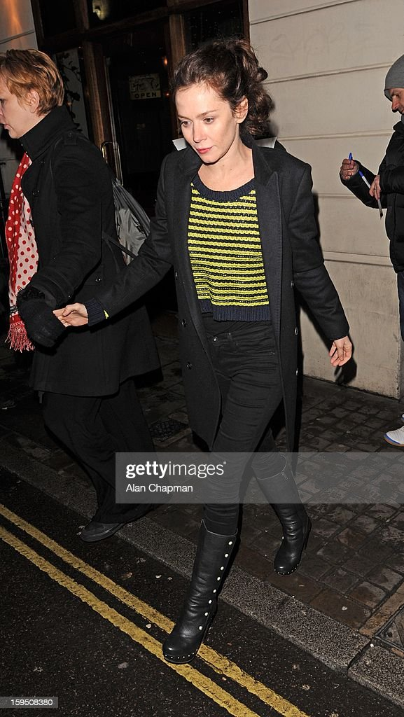 Anna Friel sighting on January 14, 2013 in London, England.