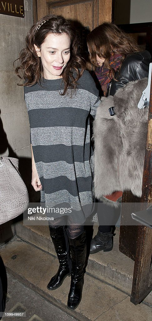 Anna Friel sighting on January 23, 2013 in London, England.