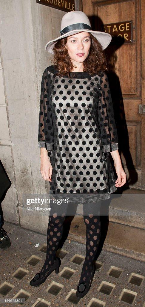 Anna Friel sighting on November 17, 2012 in London, England.