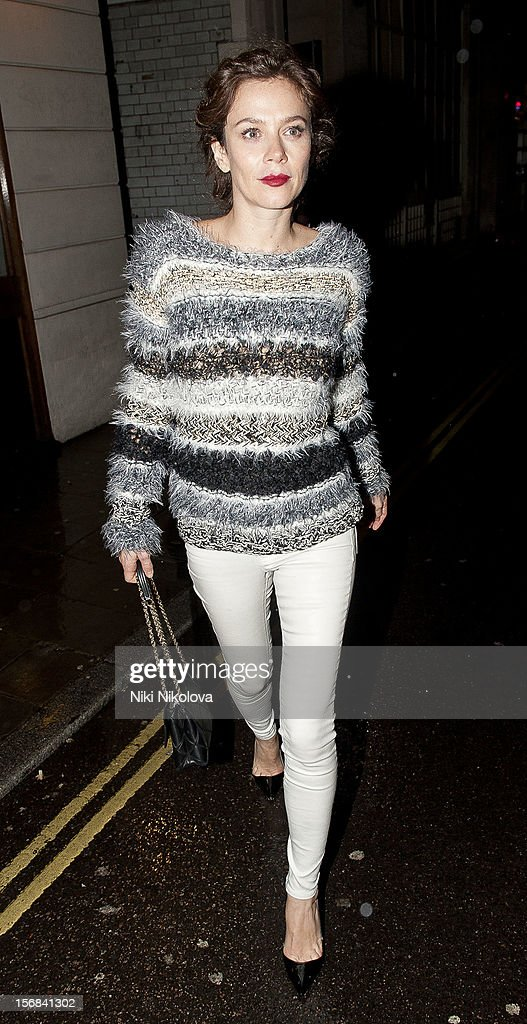 Anna Friel sighting on November 22, 2012 in London, England.