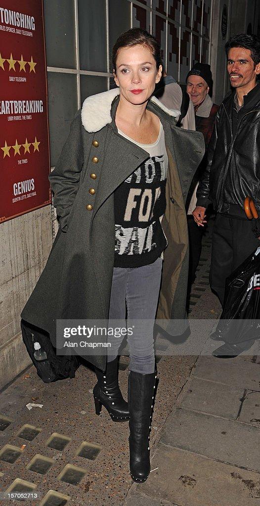Anna Friel sighting on November 27, 2012 in London, England.