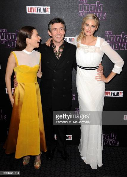 Anna Friel Steve Coogan and Tamsin Egerton attend 'The Look Of Love' UK premiere at Curzon Soho on April 15 2013 in London England
