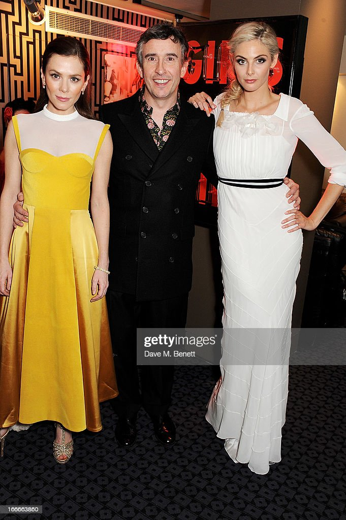 Anna Friel Steve Coogan and Tamsin Egerton attend the UK Premiere of 'The Look Of Love' at the Curzon Soho on April 15 2013 in London England