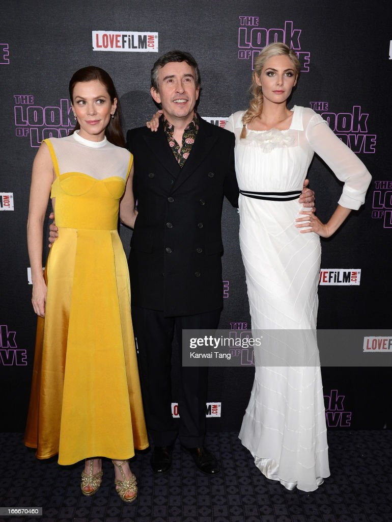 Anna Friel Steve Coogan and Tamsin Egerton attends 'The Look Of Love' UK premiere at Curzon Soho on April 15 2013 in London England