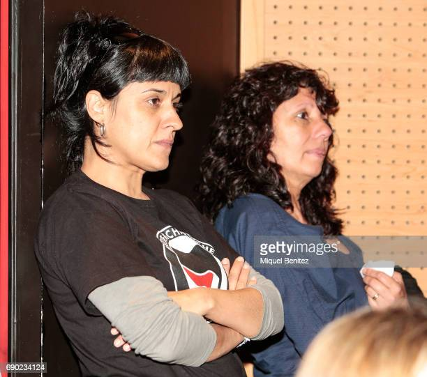 Anna Gabriel attends 'Eso No Es Amor' 'That's not Love' book presentation at the Fnac Triangle on May 30 2017 in Barcelona Spain