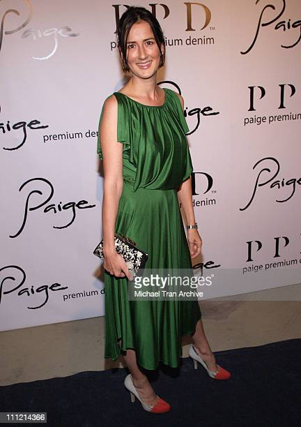 Anna Getty during Paige Denim Boutique Opening Arrivals at Paige Boutique in Beverly Hills California United States