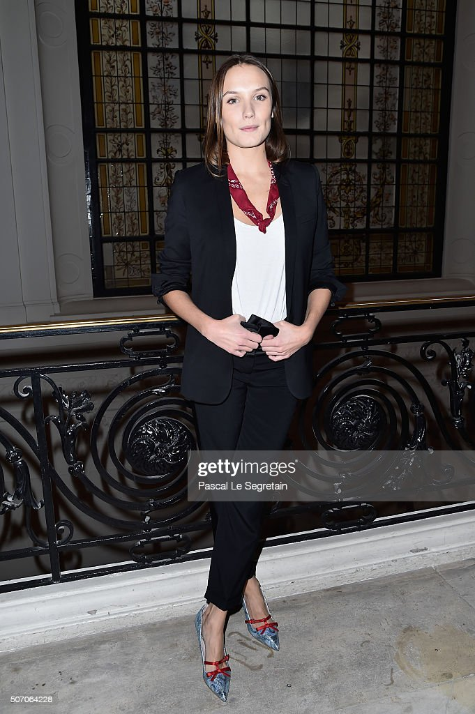 Anna Girardot attends the Jean Paul Gaultier Spring Summer 2016 show as part of Paris Fashion Week on January 27, 2016 in Paris, France.