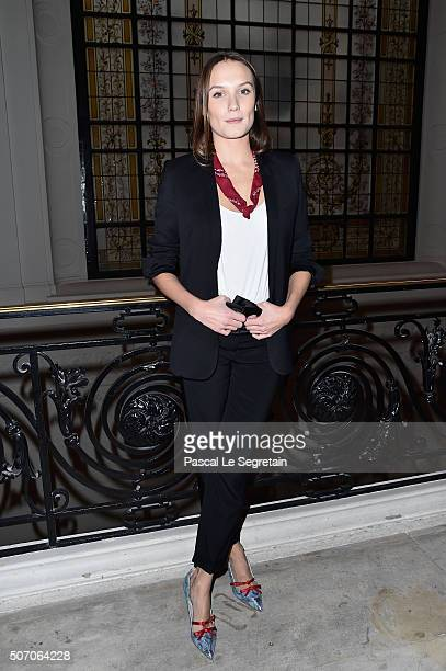 Anna Girardot attends the Jean Paul Gaultier Spring Summer 2016 show as part of Paris Fashion Week on January 27 2016 in Paris France