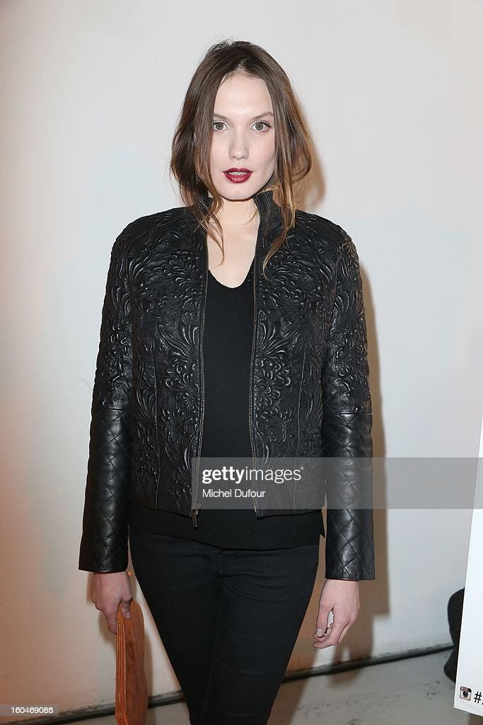 Anna Girardot attends the Make Up For Ever Party at Palais De Tokyo on January 31, 2013 in Paris, France.
