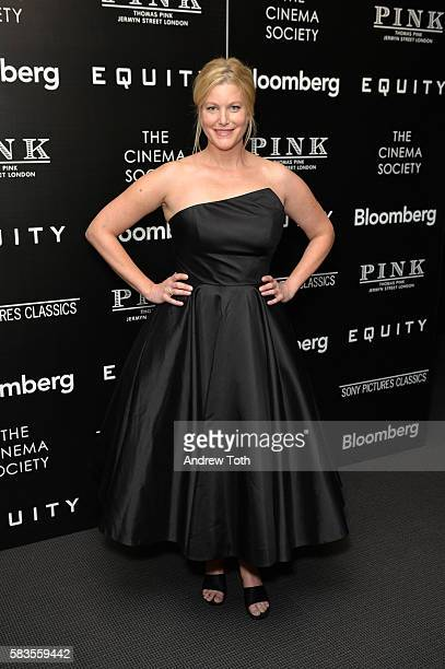 Anna Gunn attends a screening of Sony Pictures Classics' 'Equity' hosted by The Cinema Society with Bloomberg and Thomas Pink on July 26 2016 in New...