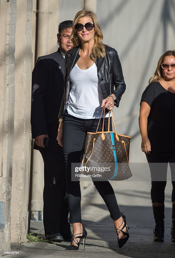 Anna Gunn is seen at 'Jimmy Kimmel Live' on October 01 2014 in Los Angeles California