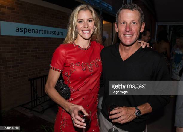 Anna Hansen Armstrong and Lance Armstrong attend Aspen Art Museum 2013 ArtCrush Summer Benefit at Aspen Art Museum on August 2 2013 in Aspen Colorado