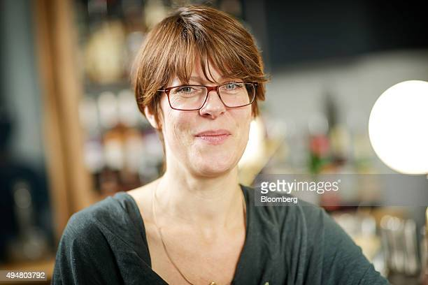 Anna Hansen chef at The Modern Pantry left poses for a photograph following a Greggs Plc food taste test in London UK on Wednesday Oct 28 2015...
