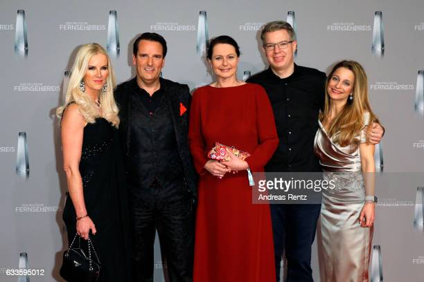 Anna Heesch Ralf Duemmel guest Frank Thelen and his wife Natalie attend the German Television Award at Rheinterrasse on February 2 2017 in...
