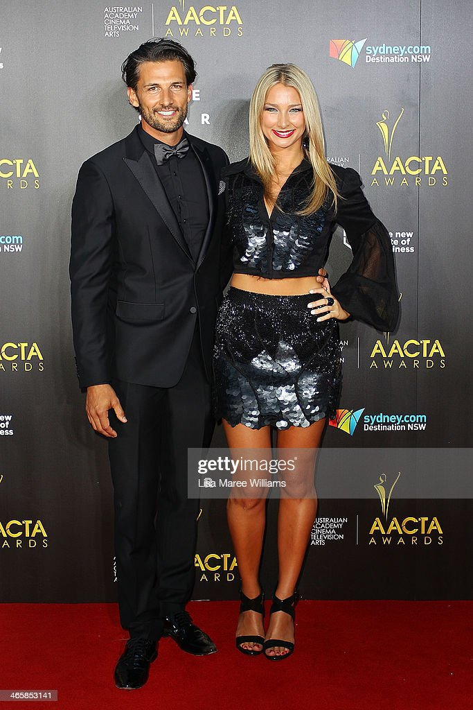 Anna Heinrich and Tim Robards arrive at the 3rd Annual AACTA Awards Ceremony at The Star on January 30, 2014 in Sydney, Australia.