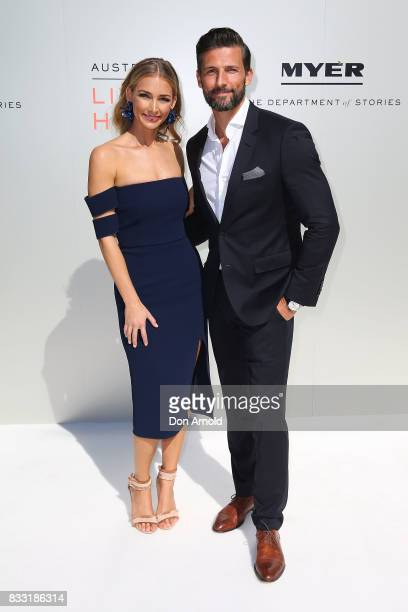 Anna Heinrich and Tim Robards at the Myer Spring 2017 Fashion Launch on August 17 2017 in Sydney Australia