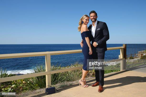 Anna Heinrich and Tim Robards pose at the Myer Spring 2017 Fashion Launch on August 17 2017 in Sydney Australia