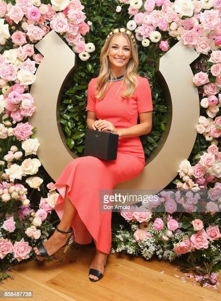 Anna Heinrich attends Moet Chandon Spring Champion Stakes Day at Royal Randwick Racecourse on October 7 2017 in Sydney Australia