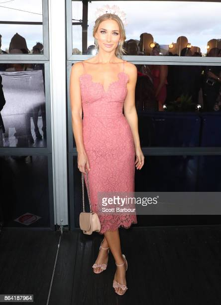 Anna Heinrich attends the David Jones Marquee on Caulfield Cup Day at Caulfield Racecourse on October 21 2017 in Melbourne Australia