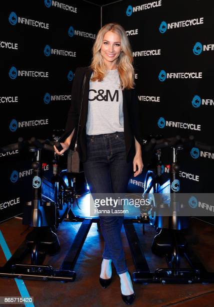 Anna Heinrich attends the Infinite Cycle Launch Event on October 24 2017 in Sydney Australia