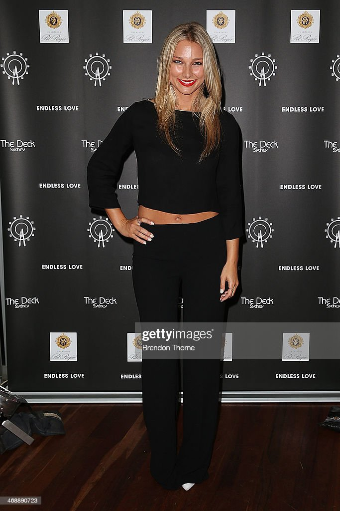 Anna Heinrich poses during Luna Park's 2014 Valentine's event at Luna Park on February 12, 2014 in Sydney, Australia.