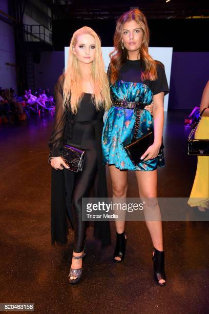 Anna Hiltrop and Vanessa Fuchs attend the Breuninger show during Platform Fashion July 2017 at Areal Boehler on July 21 2017 in Duesseldorf Germany