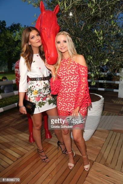 Anna Hiltrop and Vanessa Fuchs model gntm during the media night of the CHIO 2017 on July 18 2017 in Aachen Germany