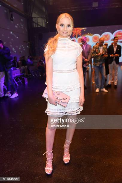 Anna Hiltrop attends the Thomas Rath show during Platform Fashion July 2017 at Areal Boehler on July 23 2017 in Duesseldorf Germany