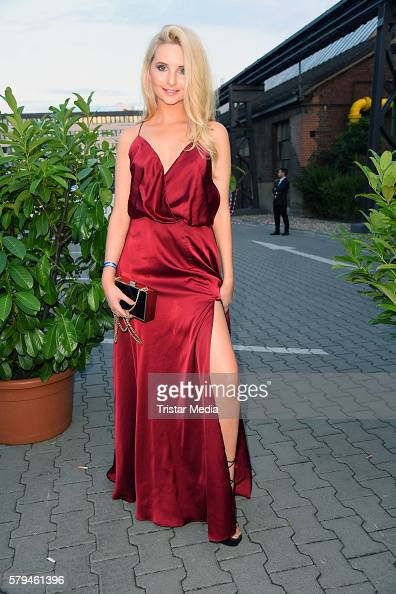 Anna Hiltrop attends the Unique show during Platform Fashion July 2016 at Areal Boehler on July 23 2016 in Duesseldorf Germany