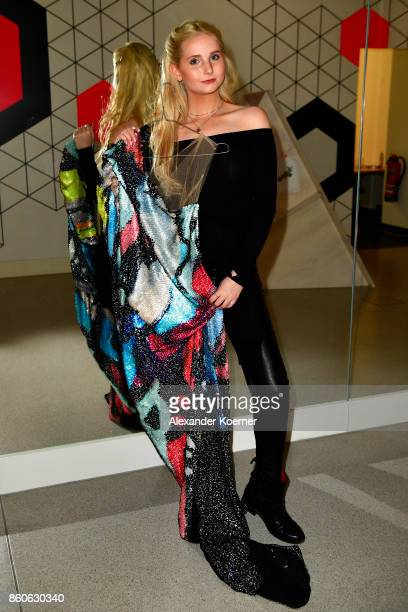 Anna Hiltrop poses backstage prior walking the runway during the American Women's Club And Esmod Charity Fashion Show at DRIVE Volkswagen Group Forum...