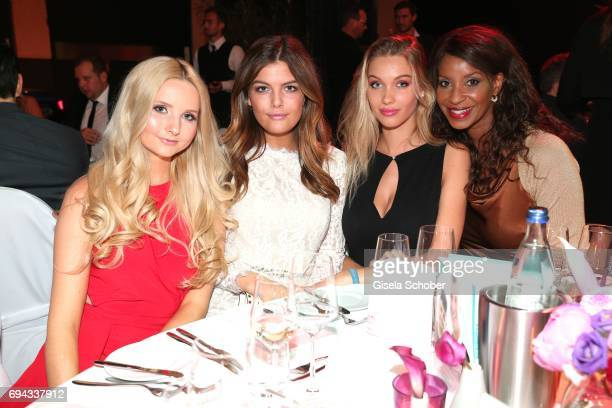 Anna Hiltrop Vanessa Fuchs Melinda London Germany's next top model gntm and Liz Baffoe during the Toni Kroos charity gala benefit to the Toni Kroos...