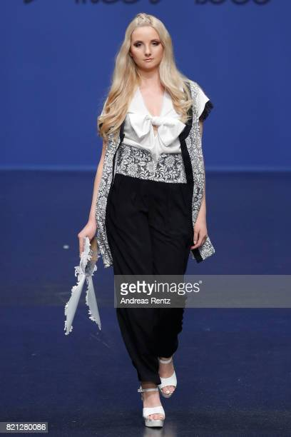 Anna Hiltrop walks the runway for Alice Roco at the Fashionyard show during Platform Fashion July 2017 at Areal Boehler on July 23 2017 in...