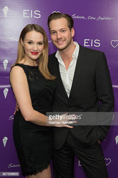 Anna Hofbauer and Marvin Alberecht attend the EIS party at Soho house on January 28 2016 in Berlin Germany