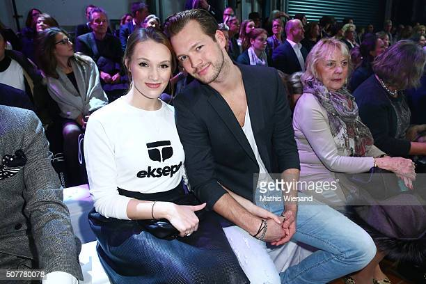 Anna Hofbauer and Marvin Albrecht attend the Platform Fashion Selected show during Platform Fashion January 2016 at Areal Boehler on January 31 2016...
