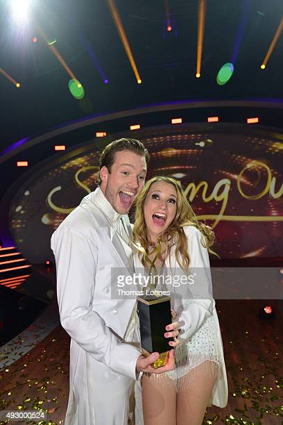Anna Hofbauer and Marvin AlbrechtÊwin the final show of the television competition 'Stepping Out' on October 16 2015 in Cologne Germany