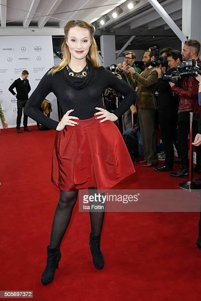 Anna Hofbauer attends the Lena Hoschek Arrivals MercedesBenz Fashion Week Berlin Autumn/Winter 2016 on January 19 2016 in Berlin Germany