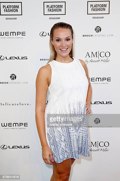Anna Hofbauer attends the Platform Fashion Selected show during Platform Fashion July 2016 at Areal Boehler on July 24 2016 in Duesseldorf Germany