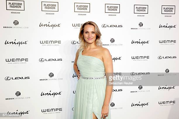 Anna Hofbauer attends the Unique show during Platform Fashion July 2016 at Areal Boehler on July 23 2016 in Duesseldorf Germany