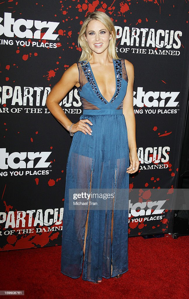 Anna Hutchison arrives at the Los Angeles premiere of 'Spartacus: War Of The Damned' held at Regal Cinemas L.A. LIVE Stadium 14 on January 22, 2013 in Los Angeles, California.