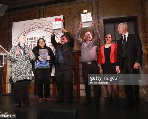 Anna Illy and Andrea Illy Chairman of illycaff present awards at the Ernesto Illy International Coffee Award gala at the New York Public Library on...