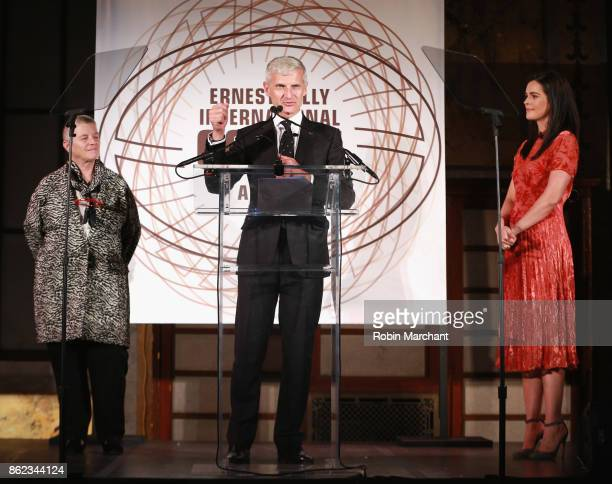 Anna Illy Andrea Illy chairman of illycaffe and Katie Lee cookbook author and television host emcee the Ernesto Illy International Coffee Award gala...