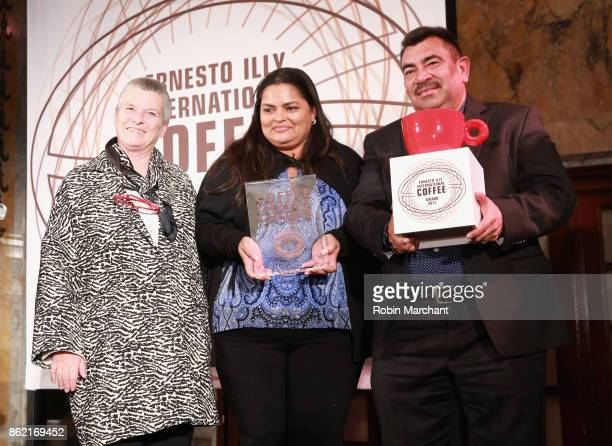Anna Illy presents awards at the Ernesto Illy International Coffee Award gala at New York Public Library on October 16 2017 in New York City